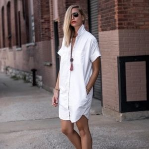 Madewell Courier Shirtdress White size Small